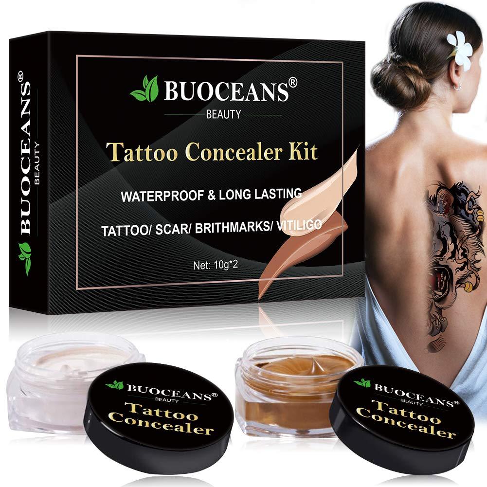Tattoo Concealer, Body Concealer Cream, Professional Tattoos Cover Up Makeup Concealer Set, Waterproof Concealer To Cover Tattoo/Scar/Birthmarks/Vitiligo, Cover Up Dark Spots Concealer