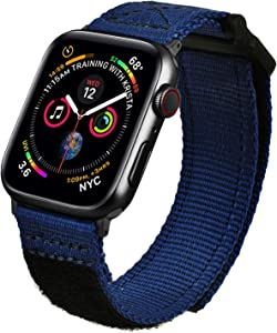 MOFREE Bands Compatible with Series 6 44mm Apple Watch Band 42mm Nylon, Soft Breathable Woven Loop Sport Strap Wristband Replacement Band Compatible for iWatch Band 44mm/42mm Series SE/ 5/4/ 3/2/ 1