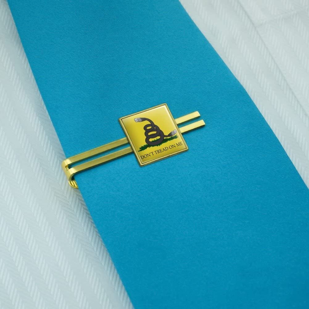 Silver or Gold GRAPHICS /& MORE Net Neutrality Dont Tread on Me Square Tie Bar Clip Clasp Tack