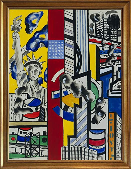 Three Figures in a Garden   by Leger Fernand   Giclee Canvas Print Repro