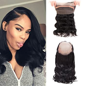 14 Inch 360 Closure Body Wave Frontal With Baby Hair Brazilian Hair 360 Lace Frontal Body Wave
