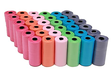 BPS (R) Bolsas de Caca Bolsa Excremento 18 Rollos, Total 270 Bolsas, Poop Bag para Perro, Mascotas, Animales Domésticos (18 rollos) BPS-2329*6