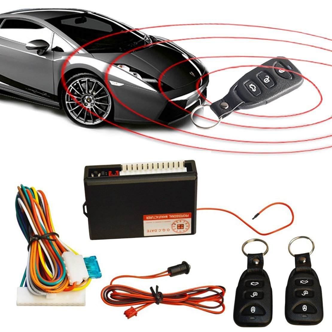 TESWNE Universal Car Door Lock Vehicle Keyless Entry System Auto Remote Central Kit with Control Box 8523722207