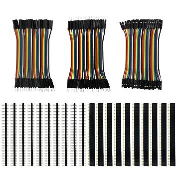 Elektronik & Messtechnik Steckplatinen & Prototyping Arduino Shield 40pcs 30cm 2.54mm male to female Dupont cables Gute qualität