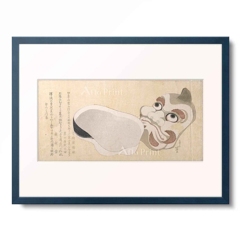 葛飾北斎 Katsushika Hokusai 額装アート作品 S(額内寸 255mm×203mm) 10.木製額 13mm(青) B07PTZ1JCM