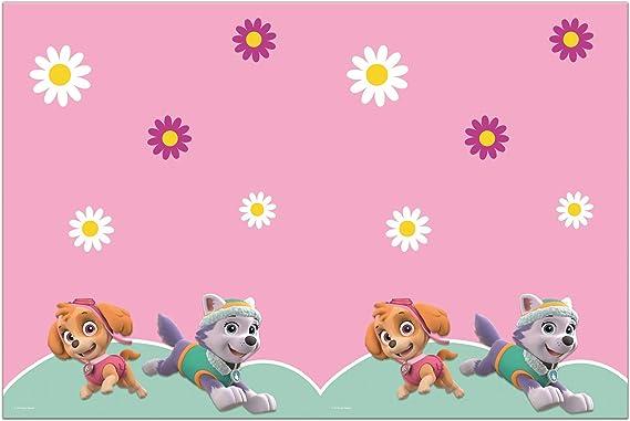 Procos 90278 Paw Patrol-Skye & Everest - Mantel de plástico, Color Rosa, Verde: Amazon.es: Juguetes y juegos