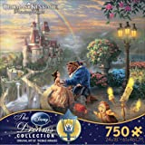 Disney(ディズニー)Beauty and the Beast ''Falling in Love'' Puzzle by Thomas Kinkade 美女と野獣パズル750ピース [並行輸入品]