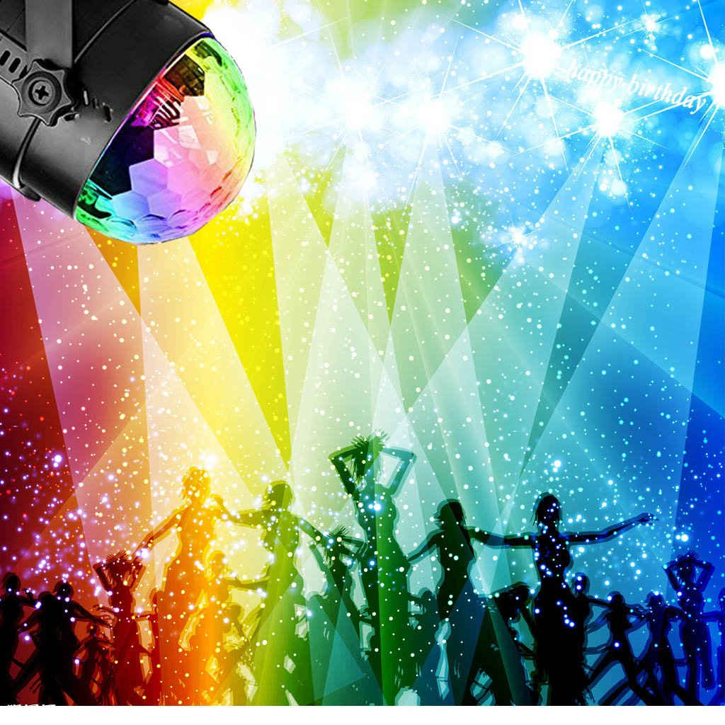 Disco Ball Strobe Light Party Lights Disco Lights Karaoke Machine 3W Dj Light LED Portable 7Colors Sound Activated Stage Lights for Festival Bar Club Party Outdoor and More (with Remote) by bestcan (Image #2)