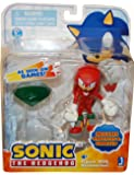 """Sonic 3"""" Action Figure With Accessories Set Knuckles & Emerald"""