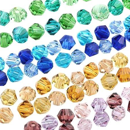 PENVEAT 720 unids/Lote Chino 4 mm de Vidrio Multicolor Bicone Bead Accesorios Ropa con Cuentas, Violeta, 4 mm