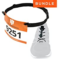 Race Number Belt + Elastic No Tie Shoelaces - Running, Triathlon Kit