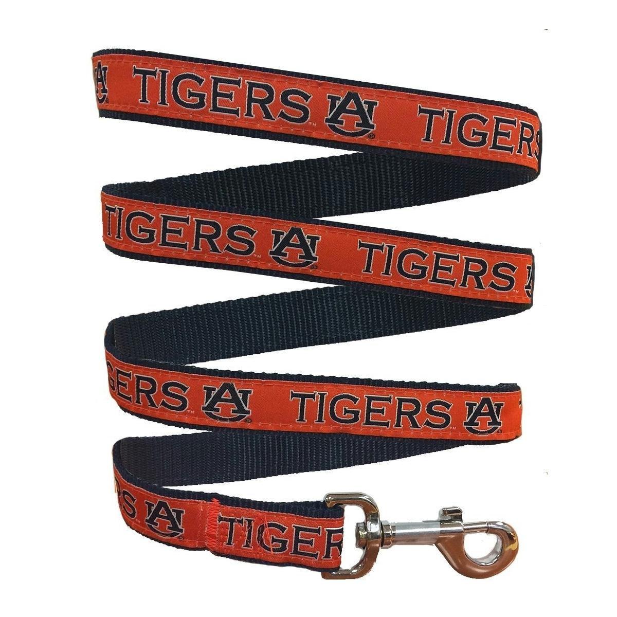 Pets First Collegiate Pet Accessories, Dog Leash, Auburn Tigers, Small