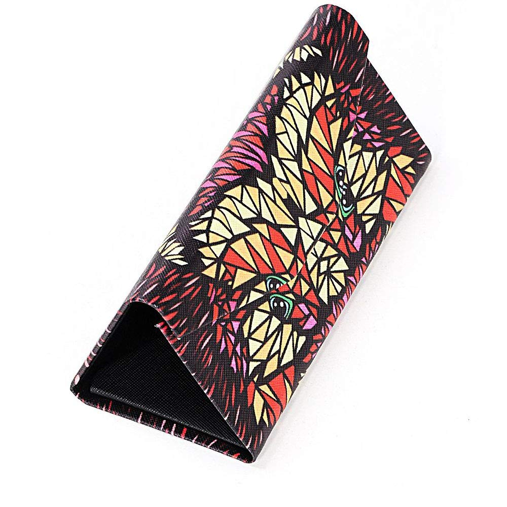 Handmade Russian Violet glasses case with a color print, on a solid basis, textiles