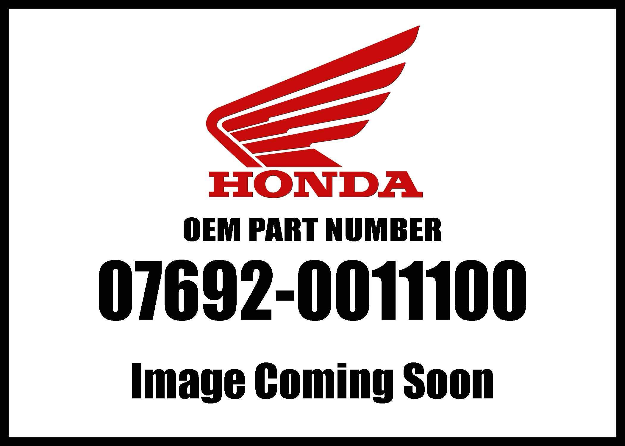 Honda 07692-0011100 Terminal Genuine Original Equipment Manufacturer (OEM) Part