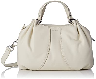 15ea1b657b8f Le Tanneur - Alice THX1000 - Sac porté main - Femme - Blanc Cassé (Cocon