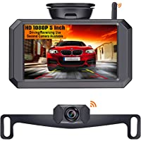 LeeKooLuu F09 5 Inch HD 1080P Wireless Backup Camera 5'' Monitor Stable Digital Signals for Trucks,Campers,Cars,SUVs…