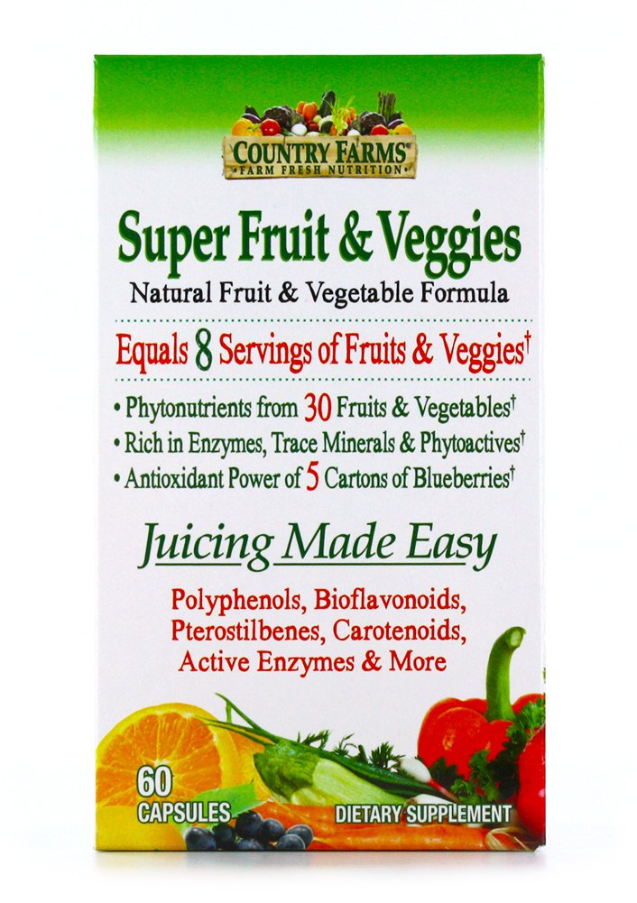 Amazon Com Country Farms Super Greens Vegicaps Whole Food