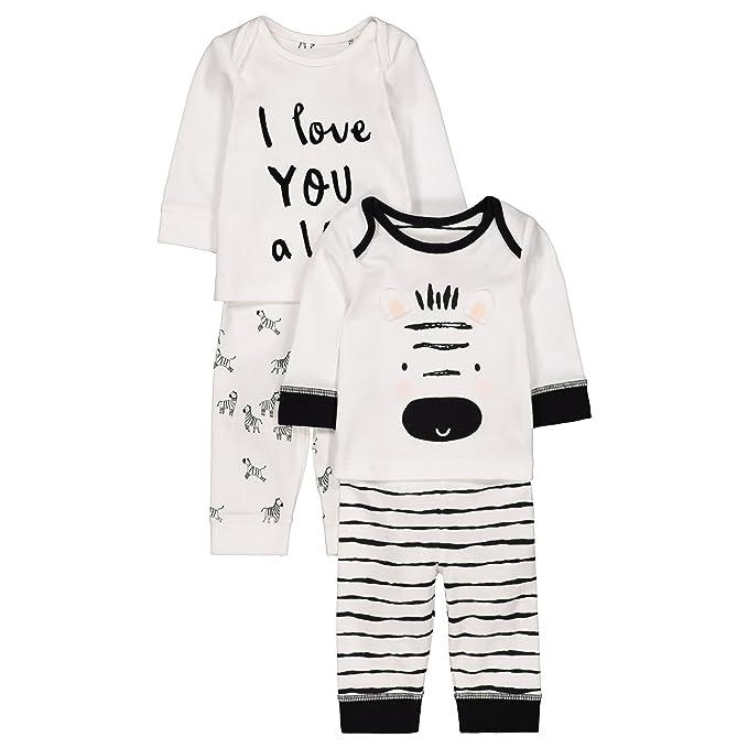 Mothercare Baby Unisex Zebra 2 Pack PJ Pyjama Sets  Amazon.co.uk  Clothing c3f4c1863