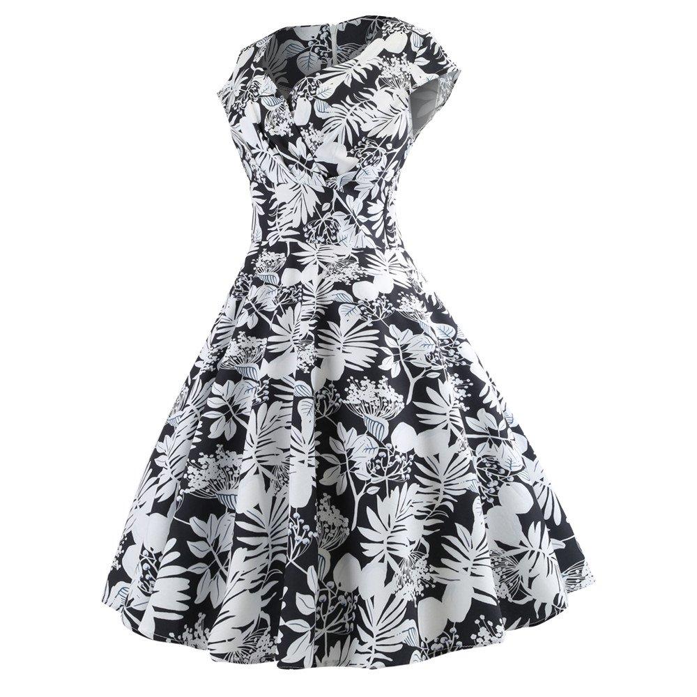 Birdfly Vintage 50S Style Dresses for Women Plus Size Boutique Dresses 2L