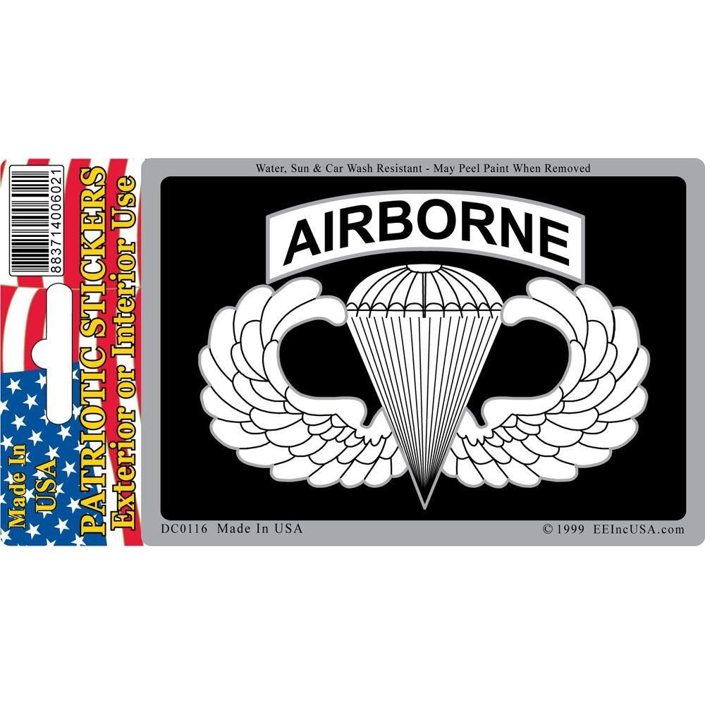 U.S Army Airborne Sticker 2-3//4X4 FindingKing