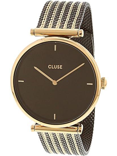 CLUSE Triomphe Mesh Bicolour Rose Gold Black Black CL61005 Women s Watch  33mm Stainless Steel Bracelet Minimalistic 60996d7824b