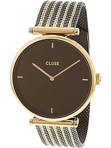 Cluse Reloj Analógico para Mujer de Cuarzo con Correa en Acero Inoxidable CL61005: Amazon.es: Relojes