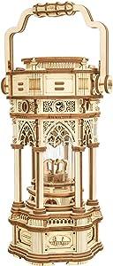 ROBOTIME 3D Wooden Puzzles DIY Musical Box Building Kit Mechanical Models to Build (Victorian Lantern)
