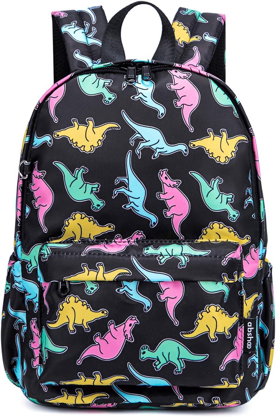 Abshoo Little Kids Toddler Backpacks for Preschool Backpack With Chest Strap (Dinosaur Black)