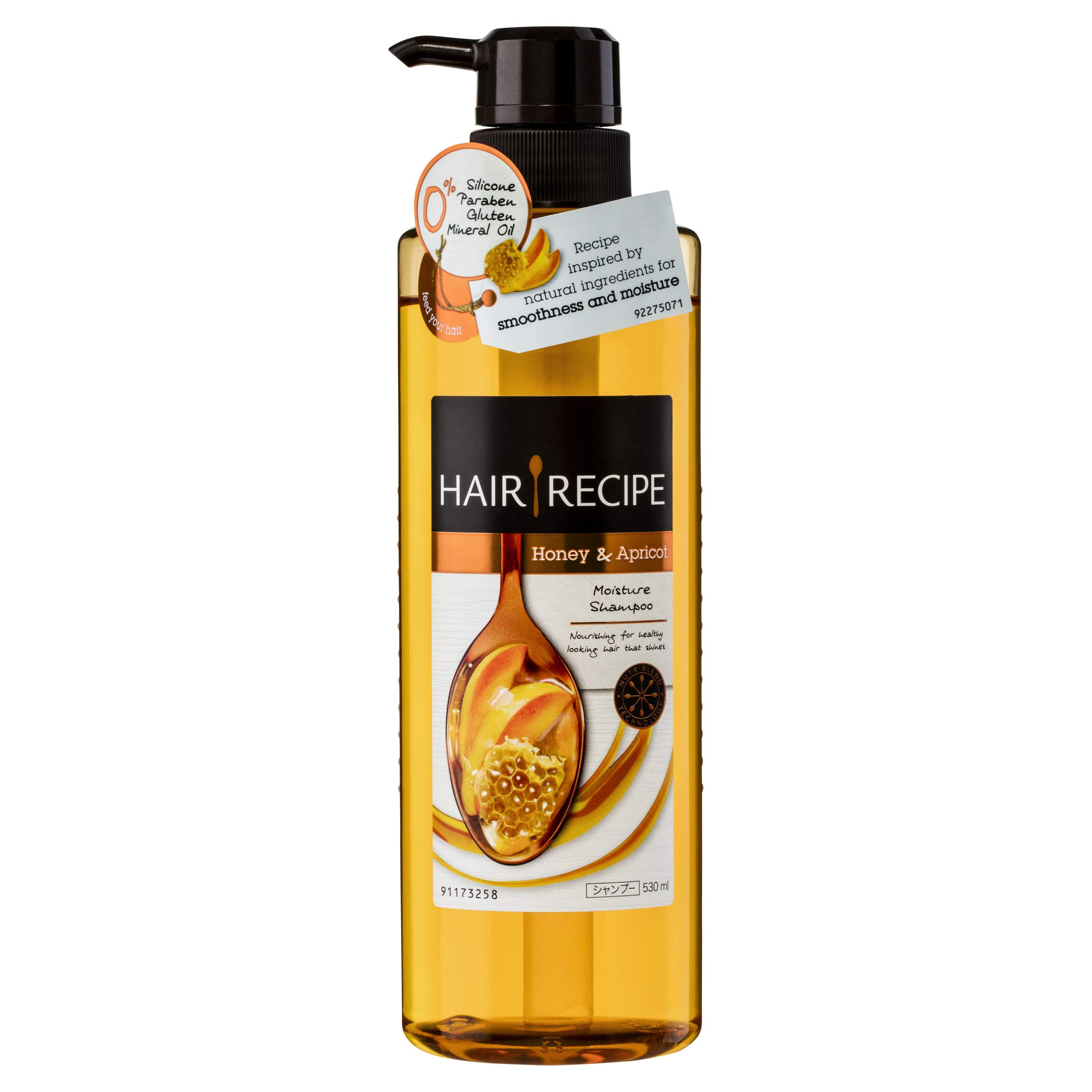 Japan Hair Products - Hair recipes shampoo Honey apricot Enriched Moisture recipe body pump 530ml *AF27* by HAIR GOODS