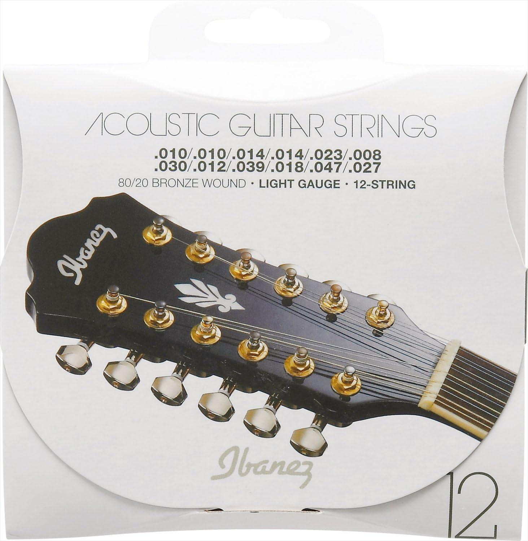 Ibanez IACS12C - Juego cuerdas para guitarra acústica