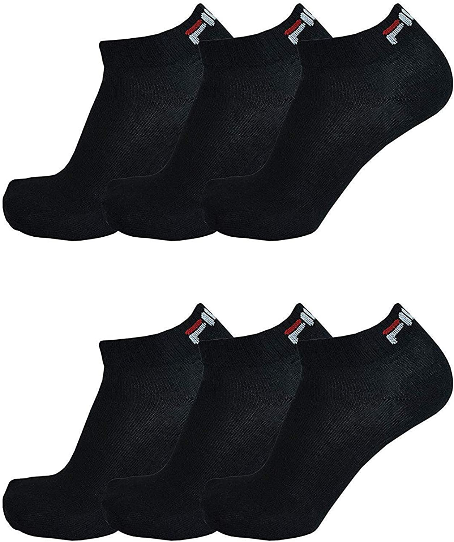 Fila 6 Paio Calzini Trimestre Sneakers Unisex 35-46 Scarpe Da Ginnastica Calzini Bianco E Nero