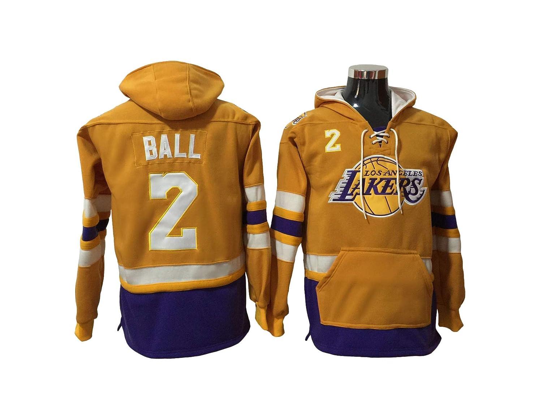brand outlet Ball 2 Lakers Basketball Hoodie Men Onesie Sweatshirt ...