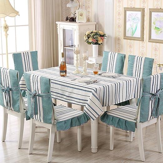 Ren&Yang Mantel de algodón y Lino Rectangular IKEA Vintage Mantel ...