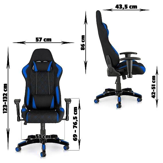 MY SIT Silla de Oficina Silla de Escritorio Gaming Racing Reposabrazos Giratoria de PU diseño Blue Racer: Amazon.es: Oficina y papelería