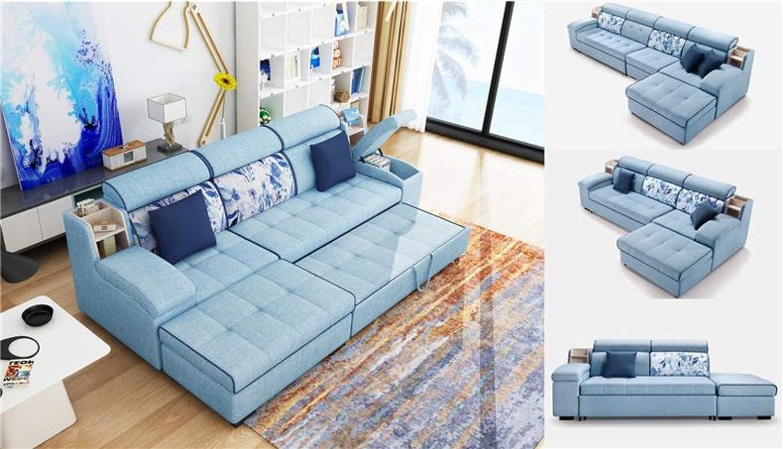 Amazon.com: My Aashis - Sofá cama multifuncional de tela de ...