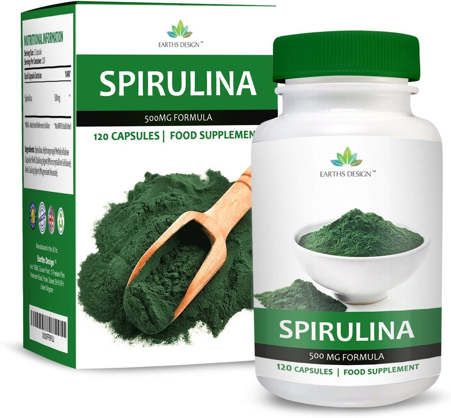 Extracto de Espirulina - Espirulina Pura en Polvo 500mg ...