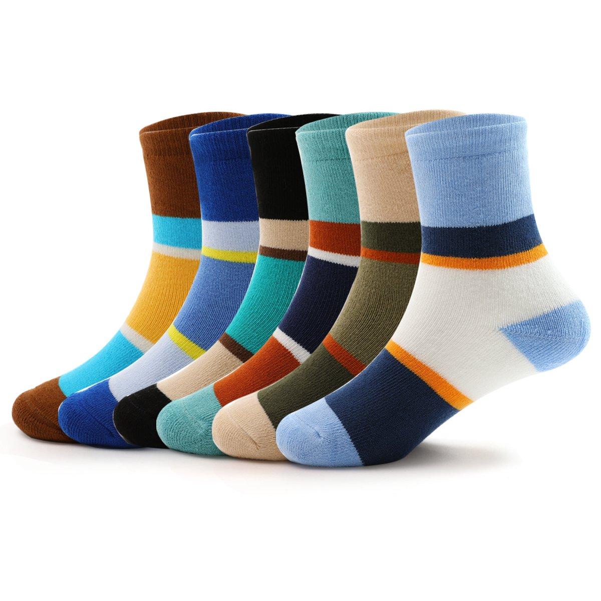 Boys Thick Cotton Socks Kids Winter Seamless Socks 6-Pack For 2T / 3T / 4T Little Boys