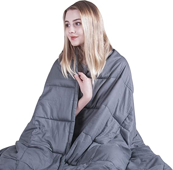 Weighted Blanket 20 lbs 72in x 42in Weighting Comforts Handmade White Large