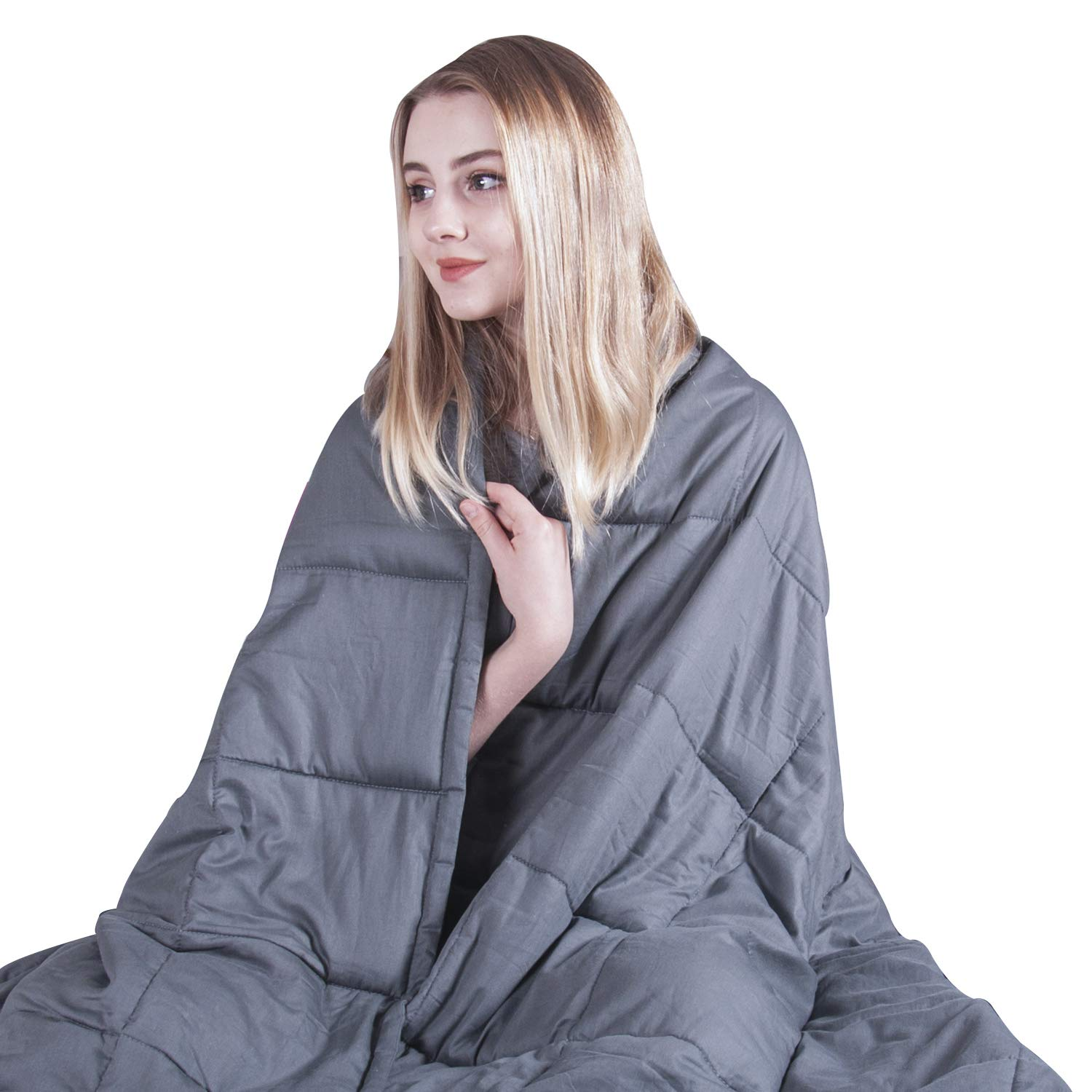 COMHO Weighted Blanket for Adults Cooling Cotton(20 lbs,60''x80'',Queen Size)