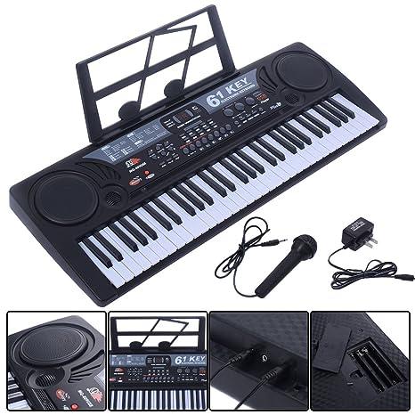 Negro Música Electrónica teclado clave board niños regalo Electric Piano órgano