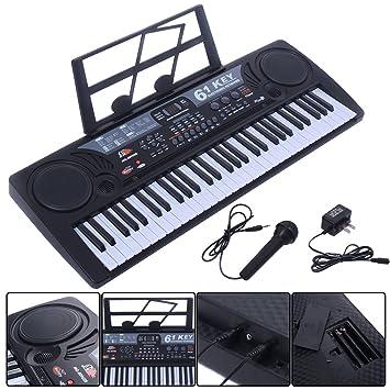 Negro Música Electrónica teclado clave board niños regalo Electric Piano órgano: Amazon.es: Instrumentos musicales