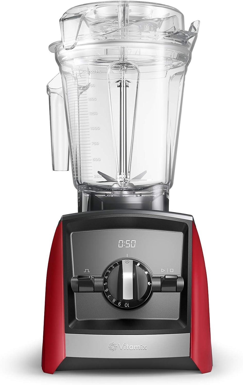 Vitamix Ascent 2500i Batidora vaso, 1400 W, 2 litros, Libre BPA, Rojo
