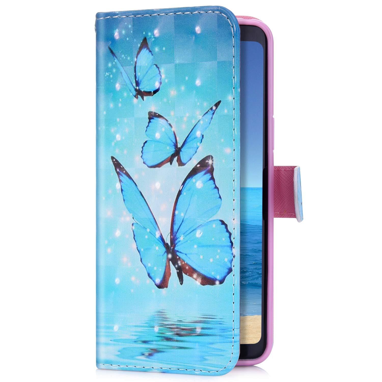 Uposao Kompatibel mit Samsung Galaxy S10e Handyh/ülle Bling Glitzer 3D Bunt Muster Schutzh/ülle Gl/änzend Cover Tasche Leder Wallet H/ülle Flip Case Handytasche Kartenf/ächer,Gold Schmetterling