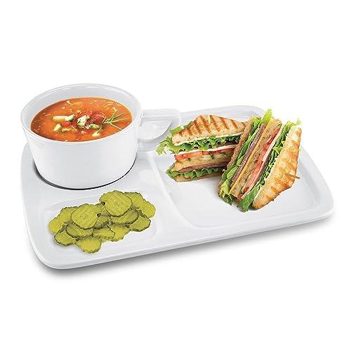 Soup and Sandwich plate: Amazon.com