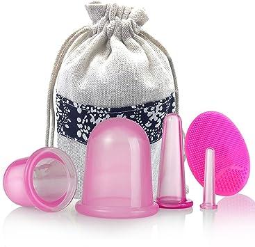 Lot de 5 ventouses anti-cellulite en silicones pour massage Mifine - Visage  et corps - Rose: Amazon.fr: Beauté et Parfum