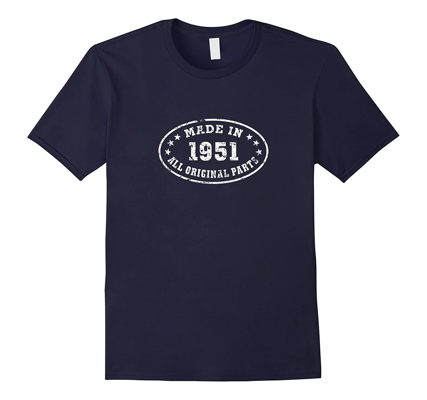 65th Birthday Gift - Made In 1951 All Original Parts T-Shirt-Art