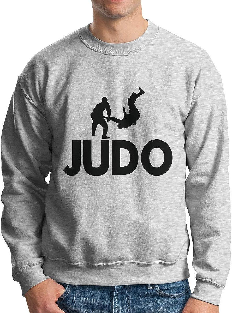 LLiYing-D Judo Fighter Adult Mens Fashion Long Sleeve Sweater T-Shirt