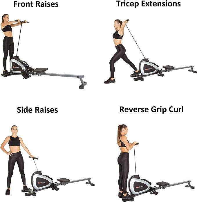 A máquina de remo 1000 plus proporciona a possibilidade de fazer diversos exercícios além de remar