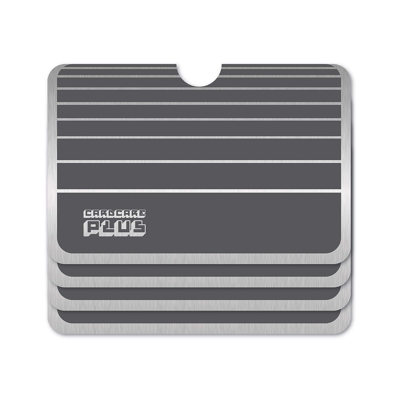 Anti-Scan-Schutzfolien für Kreditkarten, RFID, NFC, gestreift, Grau, 4 Stück
