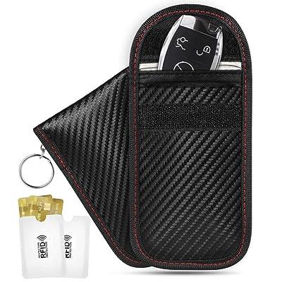 Upgraded 2 Pack Faraday Key Fob Protector, Niceline Premium Faraday Bag Key Fob, Faraday Cage Car Key Protector, RFID Signal Blocking, Anti -Theft RFID Key Fob Protector with RFID Blocking Sleeves: Automotive